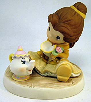 Precious Moments Disney You Are So Tea-Lightful Belle with Teacup Teapot