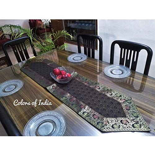 Gray Hand Crafted Table Runner India
