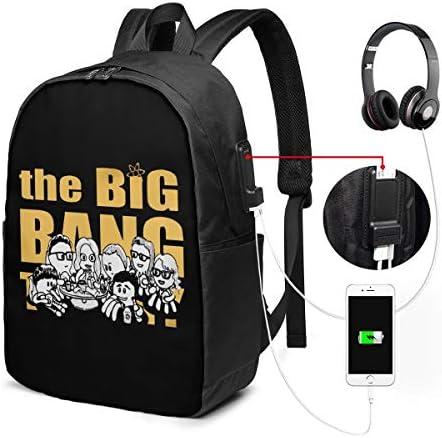 ビジネスリュック ビッグバン・セオリー ハッピーファミリー メンズバックパック 手提げ リュック バックパックリュック 通勤 出張 大容量 イヤホンポート USB充電ポート付き 防水 PC収納 通勤 出張 旅行 通学 男女兼用