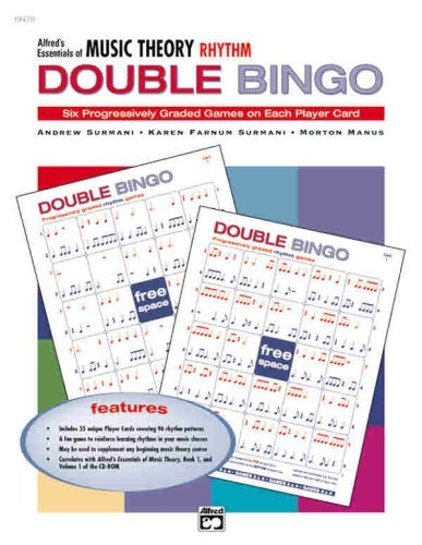 Essentials of Music Theory: Double Bingo Game (Rhythm) [Paperback] [January 2001] (Author) Karen Farnum Surmani, Andrew Surmani, Morton Manus