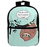 Sloth On Tree Lazy AnimalChildrens' ChickenChildren's Zipper Full Printed Backpack