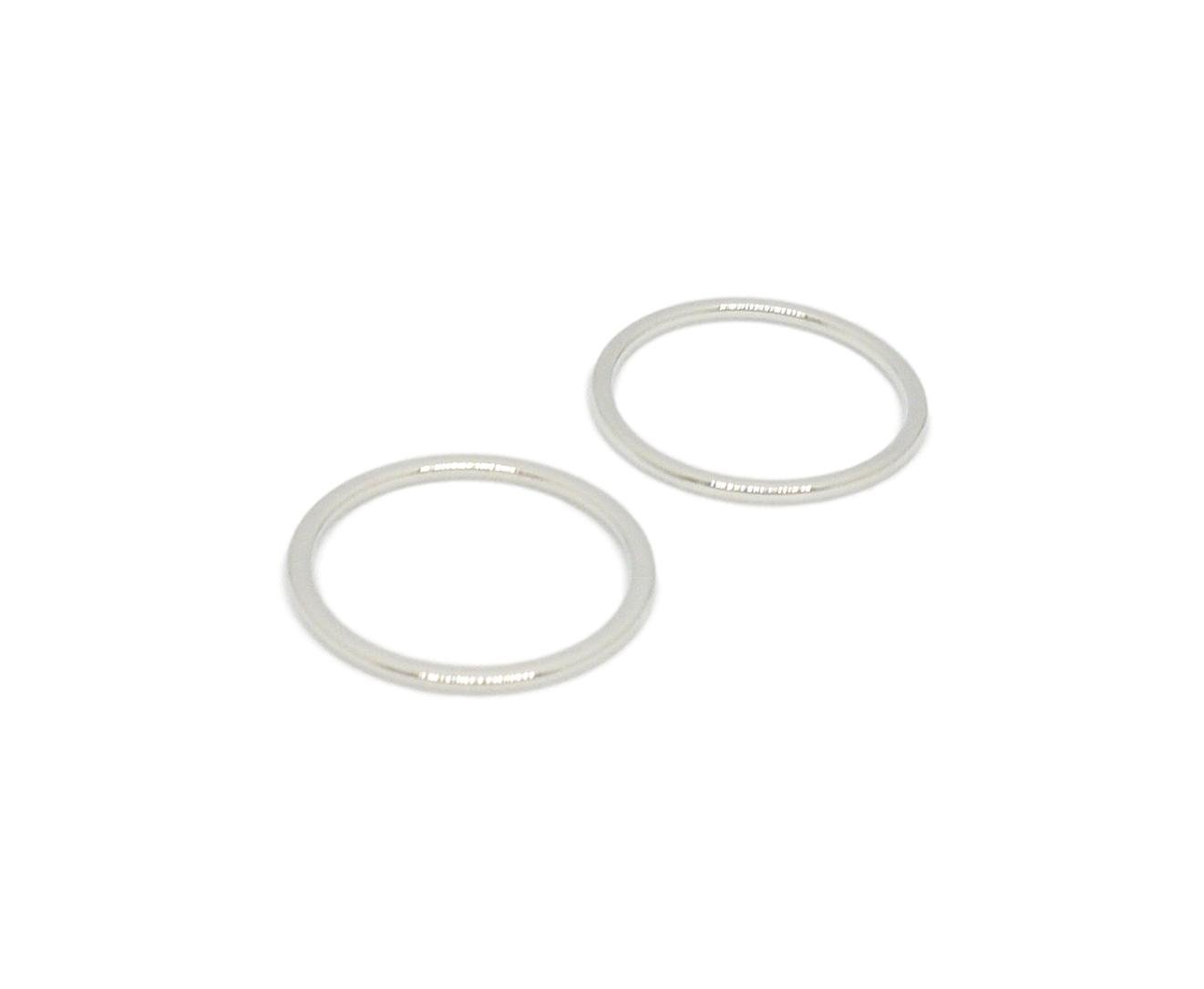 Porcelynne Silver Metal Alloy Replacement Bra Strap Ring - 1'' (25mm) Opening - 50 Pairs (100 Pieces) by Porcelynne