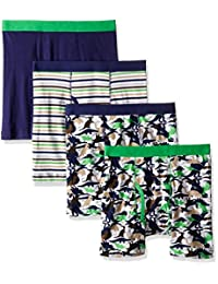 Trimfit Boys' 100 Percent Cotton Tagless Assorted Boxer Briefs 5-Pack