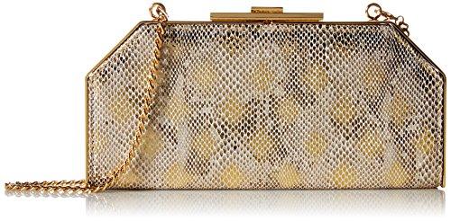 Halston Heritage Geo Frame Clutch Evening Bag - Gold - On...