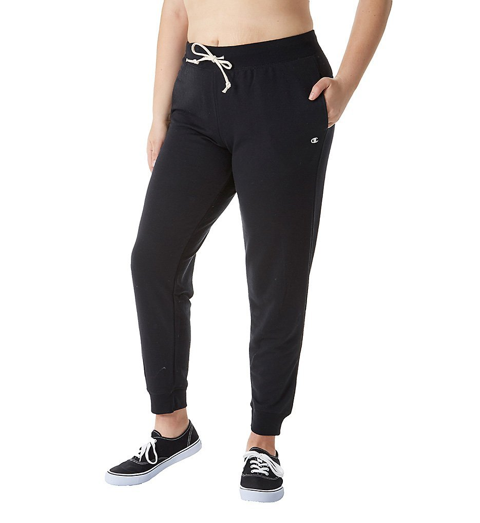 Champion Women's Plus-Size French Terry Jogger, Black, 1X by Champion