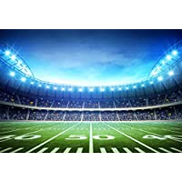 FUS 5X7FT Latest Waterproof Cotton Polyester Photography Background Washable Christmas Backdrop Football field FD-8443