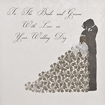 to the bride and groom with love on your wedding day handmade