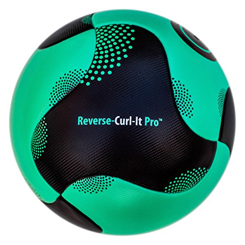 (Bend-It Size 5 Soccer Ball, Reverse-Curl-It Pro Match Ball, Green And Black Soccer Ball)