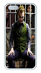 iPhone 5S Case and Cover VUTTOO Joker 1 TPU Silicone Rubber Case Cover for iPhone 5S - White