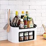 CFTLHL for Home Kitchen, Outdoor Barbecue, Kitchen Rack, Seasoning Box Storage Box, Spice Bottle Set - Green,White