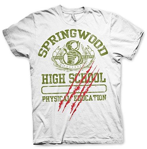 blanca Springwood School de Camiseta High oficialmente autorizada BwxU0tnYR