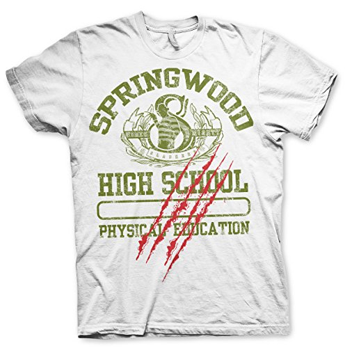 de blanca autorizada School oficialmente Springwood High Camiseta xCASn