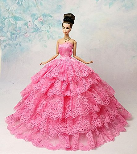 Fashion Royalty Party Princess Dress Clothes/Gown For Barbie Doll S239
