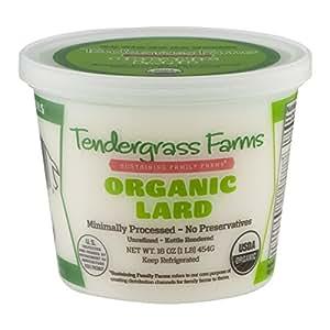 Organic Lard, 16 oz. (2 Pack)