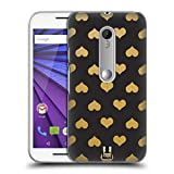 Head Case Designs Heart Pattern Grand As Gold Hard Back Case for Motorola Moto X Play