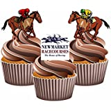Horse Racing Newmarket Mix - Edible Stand-up Cupcake Toppers by AKGifts