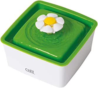 Catit Mini Water Fountain, White/Green
