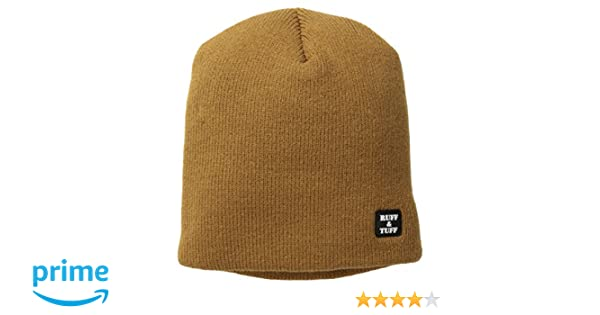 304162542890 Amazon.com: Quietwear Men's Ruff and Tuff 4 Layer Beanie, Duck Brown, One  Size: Clothing