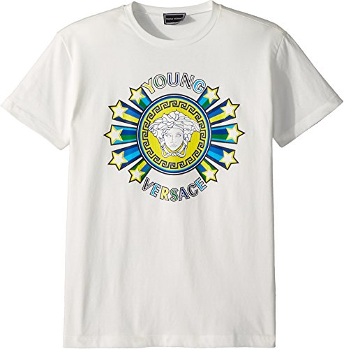 Versace Kids Boy's Short Sleeve Medusa Logo Graphic Tee (Big Kids) White - Medusa Logo Versace