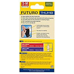 Futuro Deluxe Thumb Stabilizer, Small/Medium