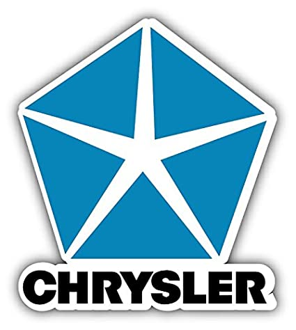 Amazon Com Chrysler Logo Auto Combo Car Bumper Sticker Decal 13 X