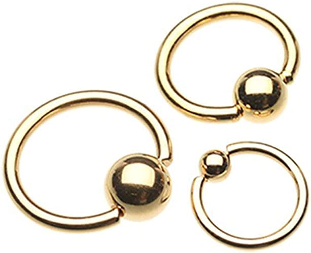 Covet Jewelry Black Kitty Cat Steel Captive Bead Ring
