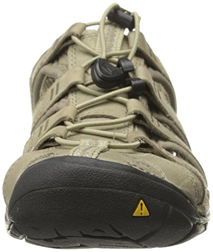 KEEN Clearwater CNX Leather W Sandalias Aluminum/Brindle