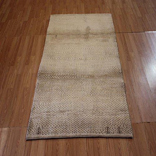 Amazon Com Persian Hand Knotted Geometric Persian Gabbeh Beige Wool