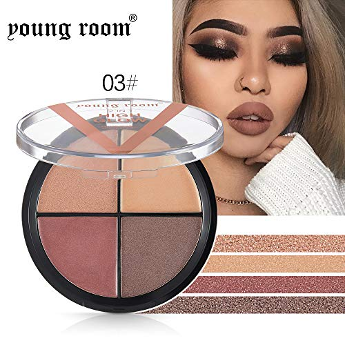 FORUU Women's Eyeshadow, 2019 Valentine's Day Surprise Best Gift For Girlfriend Lover Wife Party Under 5 Free delivery 4 Color Waterproof Brush Eye Shadow Plate Powder Matt Cosmetic Makeup