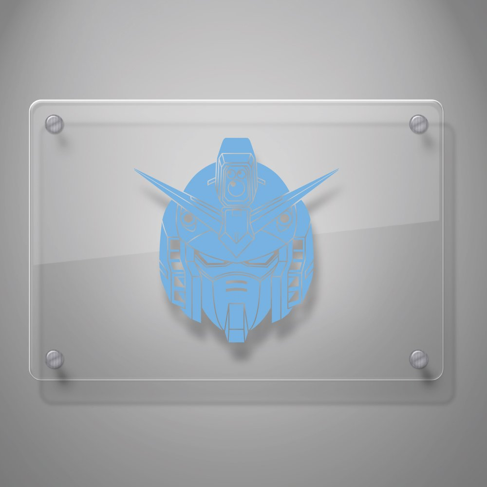 Laptop and More # 939 Yoonek Graphics Gundam Wing Decal Sticker for Car Window 8 x 8, White Laptop and More # 939 8 x 8