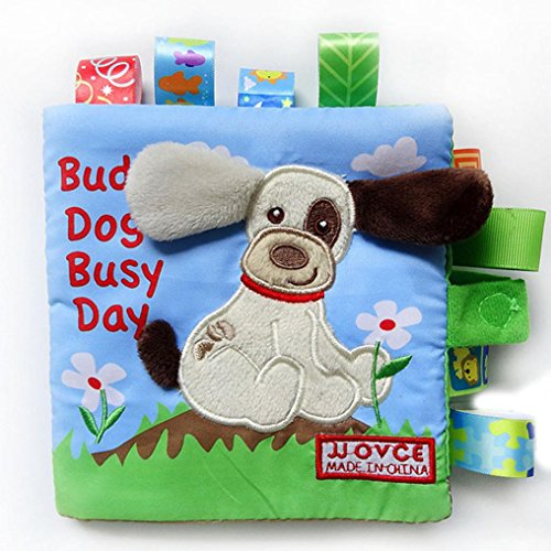XILALU Baby toy, Lovely Animal Dog Puzzle Cloth Book Baby Toy Cloth Development Books