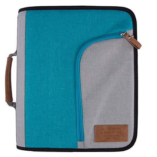 Renwick 3 Ring Binder Portfolio Organizer with Tablet Sleeve (Turquoise/Gray)