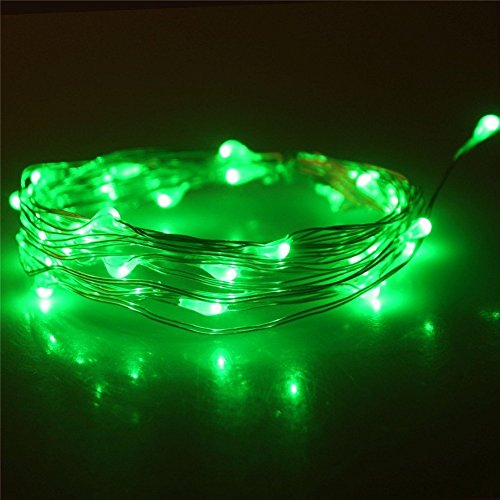 2 Pack,ZIUMIER LED String Lights Battery Operated,30Leds 10Ft Copper Wire Battery Powered Micro Fairy Starry Lights for Indoor Outdoor Home Christmas Tree (Fairy Lights Green)