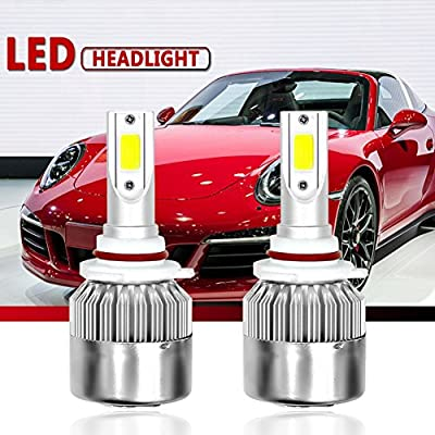 Malcam LED Headlight Bulbs All-in-One Conversion Kit, 7600LM 72W 6000K Cool White COB, IP68 Waterproof LED Headlight Bulb - 3 Yrs Warranty