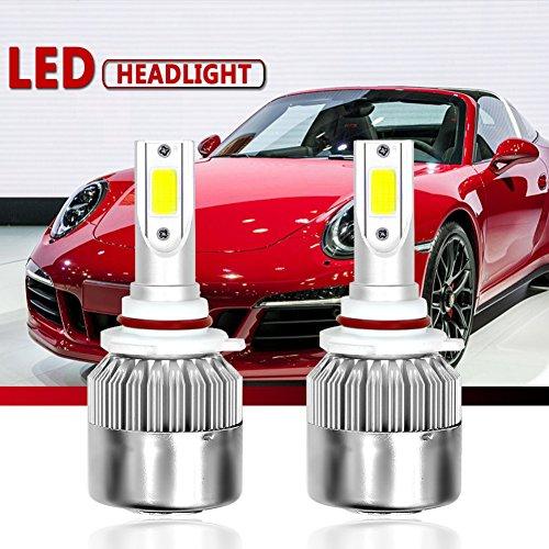 Malcam HB3/H10/9005 LED Headlight Bulbs All-in-One Conversion Kit, 7600LM 72W 6000K Cool White COB, IP68 Waterproof LED Headlight Bulb - 3 Yrs Warranty
