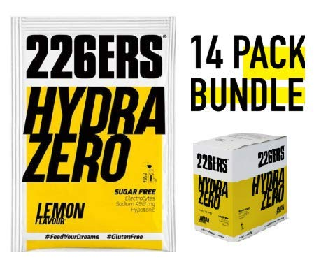 226ers Hydrazero Lemon Hypotonic Endurance Energy Drink (14x7.5gr Pouches) Designed for Endurance Athletes & Athletic Performance. Pro & Age Group Ironmen, Ironwomen, Runners, Cyclists, Swimmers