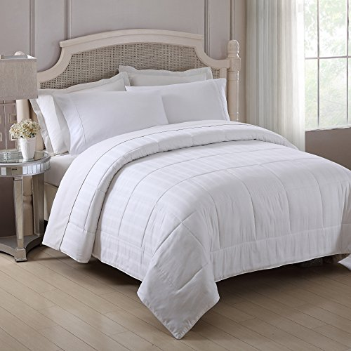 Fresh Ideas All Season Silk Comforter – Lightweight, Breathable Bedding With Quilted Cotto ...