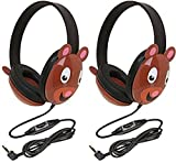 Califone 2810-BE Listening First Stereo Headphone, Bear Motif - Pack of 2