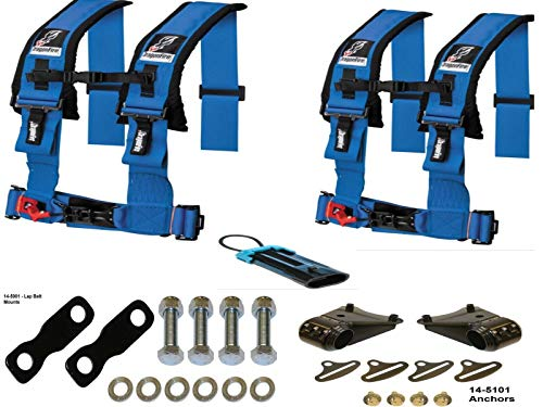 YXZ 1000R Harness Kit by Dragonfire Racing Blue 4-Point 3