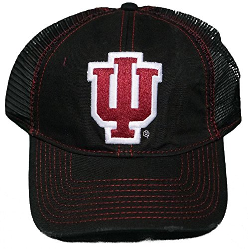 NEW! Indiana University Hoosiers Snap Back Hat 3D Embroidered Mesh Back ()