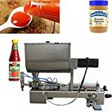 USA Stock 1000ml Paste Filling Machine peanut Butter Piston Mixer Hopper Filler