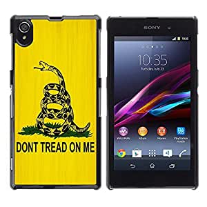 - Freaky Funny Pattern - - Hard Plastic Protective Aluminum Back Case Skin Cover FOR Sony Xperia Z1 L39 Queen Pattern