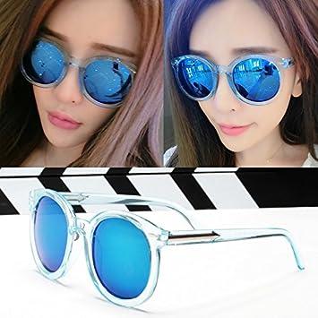 Sunyan Neue Sonnenbrille männlichen tide Sterne mit den Augen der Frauen und Frauen Augen zurück zu alten koreanischen Gläser, Pulver frame Pulver film