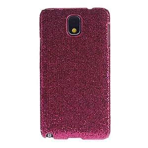 MOFY-Brilla Dise–o Caso elegante Rose Back para Samsung Nota Protector de pantalla 3 + HQ