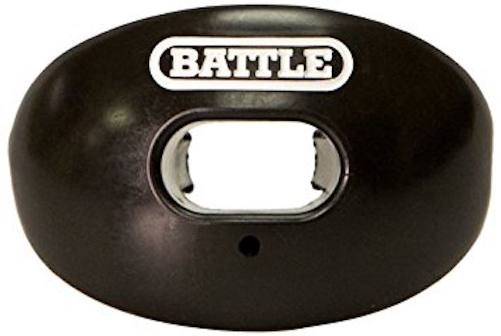 Battle Chrome Oxygen Senior Football Mouthguard (Black) by Battle