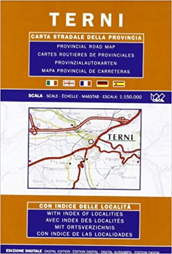 Provincial Map Of Italy.Terni Umbria Italy Provincial Road Map Italian German English