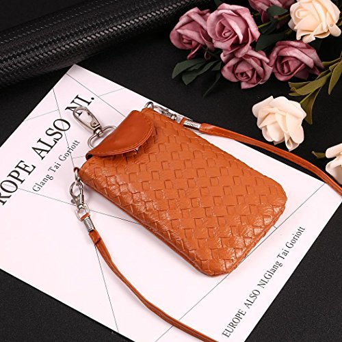 Brown Change Mini Crossbody TelDen Bag Pouch Flower Wallet Shoulder Cellphone Purse 8vwdHdFxq