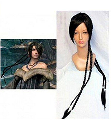 Price comparison product image Hmy Heat Resistant Fiber By Final Fantasy X Lulu Japan Anime Wig