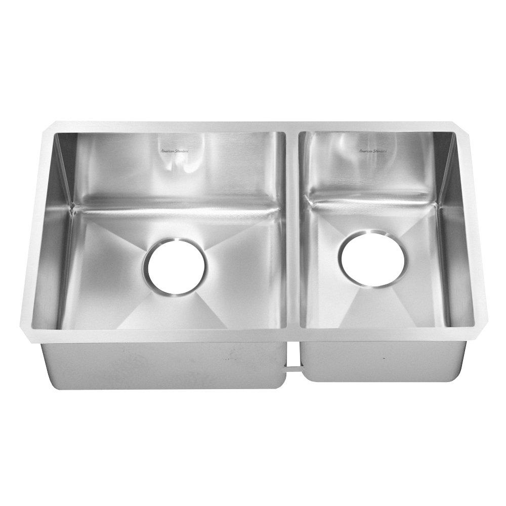 American Standard 12CR.261800.290 Prevoir Luxury Undermount 26-Inch Stainless Steel Double Combination Bowl Kitchen Sink, Steel