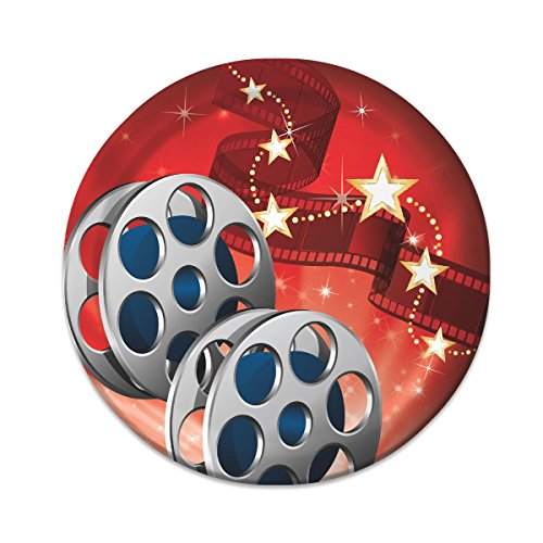 Star Costume White Movie Black (Creative Converting 8 Count Hollywood Lights Lunch Plates, 7